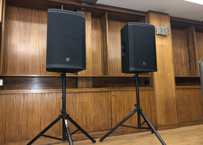 Active PA Speakers 4000W - EV ETX 15P - with mixer and cables - 1