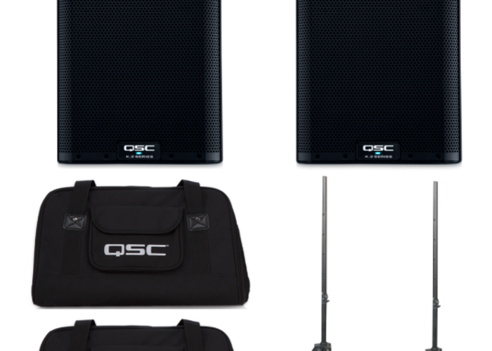 PA System  - Speakers, 2000w - Active speakers - QSC K8 - 1