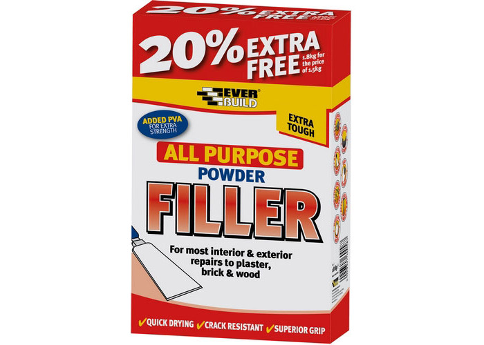 Everbuild All Purpose Powder Filler White 1.5kg - 1