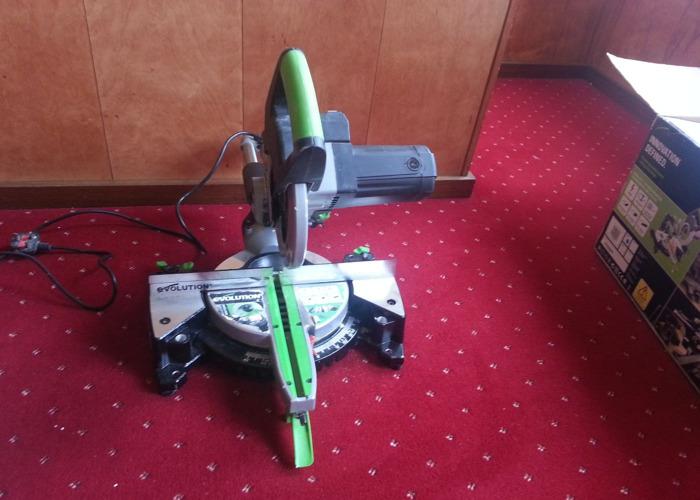 Evolution multi purpose cutting technology sliding miter saw - 1