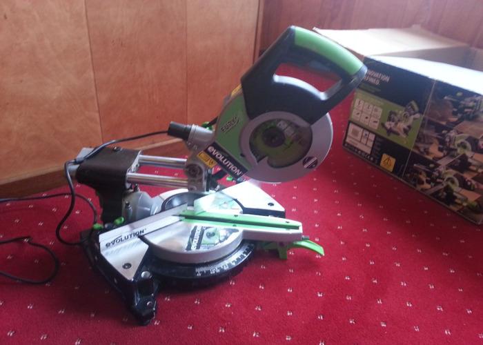 Evolution multi purpose cutting technology sliding miter saw - 2