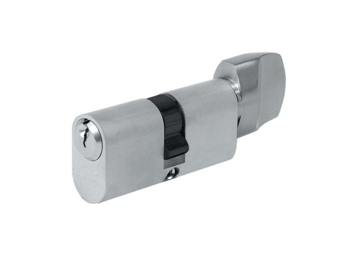 EVVA A5 OKZ Oval Key & Turn Cylinder - 62mm 31/T31 (26/10/T26) KD NP - 1