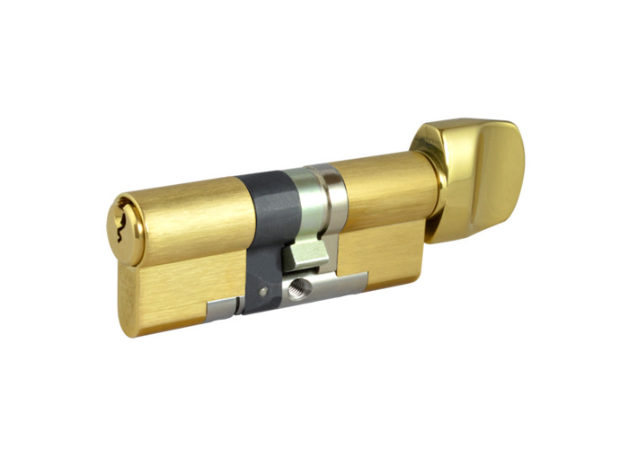 EVVA EPS 3 Star Snap Resistant Euro Key & Turn Cylinder - 77mm 41/T36 (36/10/T31) KD PB - 1