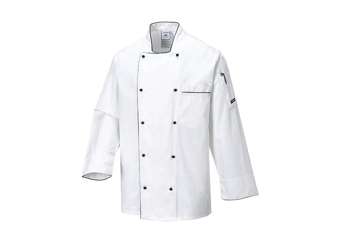 Executive Chef Jacket  White  XL  R - 1