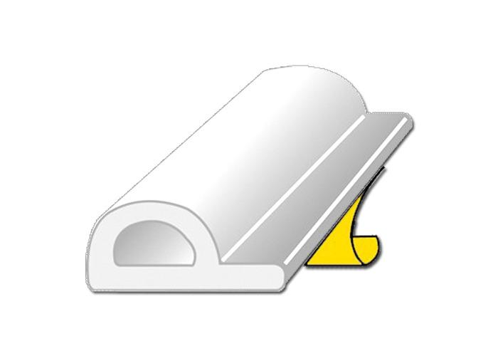 EXITEX P Strip Self Adhesive Door Seal - White - 1