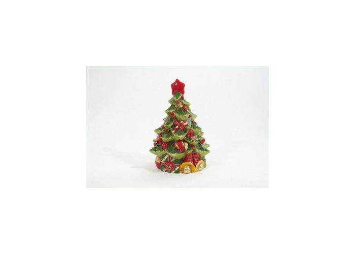 Extra Large Christmas Tree Ceramic Tea Light Tealight Candle Holder - 1