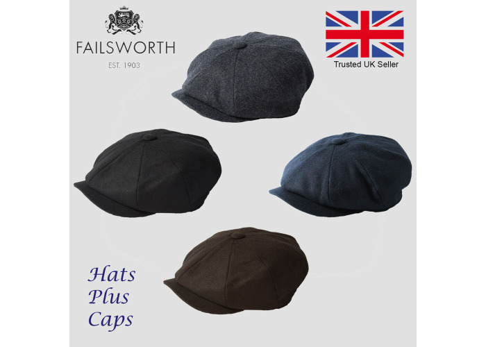 cc7bdae0d Buy Failsworth Alfie Melton Wool Peaky Blinders Newsboy Flat Cap ...