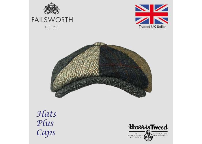 3a2846d9f Buy Failsworth Lewis Mixed Carloway Harris Tweed Alfie Newsboy Cap ...