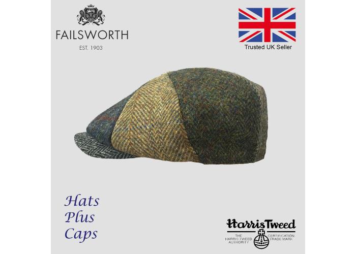 de5fae138 Buy Failsworth Lewis Mixed Carloway Harris Tweed Alfie Newsboy Cap ...