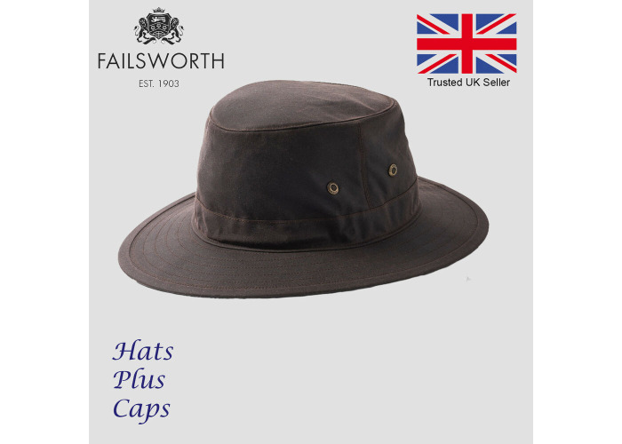 Failsworth Traveller Hat British Wax Cotton Waterproof Brown Navy Olive Fedora