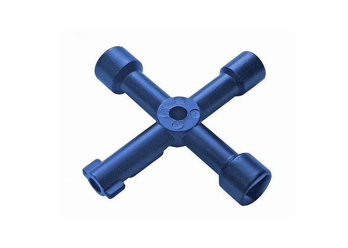 Faithfull FAISUKEY 4-Way Services Utility Meter Key - 1
