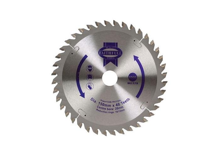 Faithfull FAIZ15040 Circular Saw Blade 150 x 20mm x 40T General-Purpose - 1