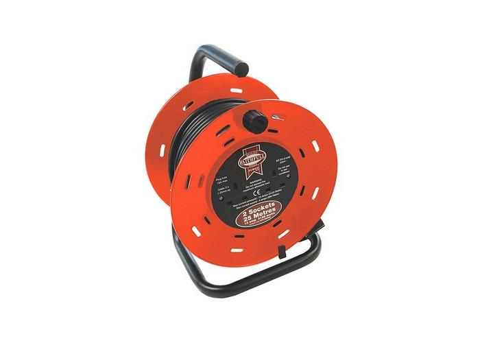 Faithfull FPPCR25M Cable Reel 25 Metre 13 Amp 230 Volt - 1