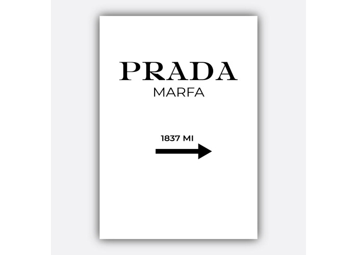 391ad0ad99998 Buy Fashion PRADA Marfa Minimalist Typography Quote Art Print Wall ...