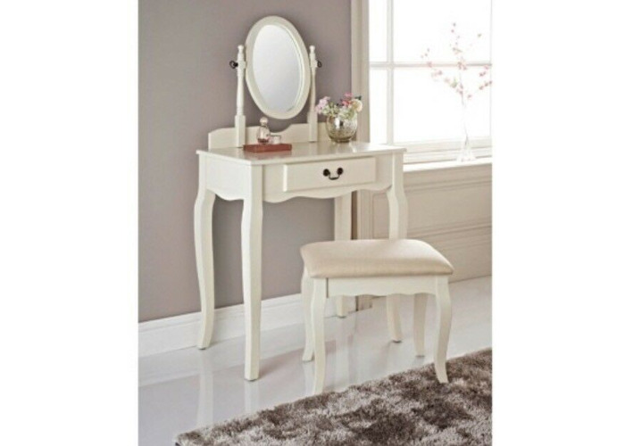 Felicity Vanity with Stool Set Dressing Table Complete With Mirror & Stool - 1