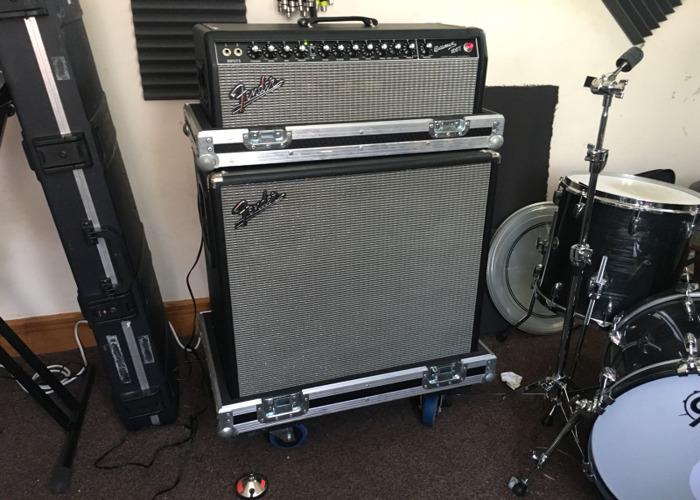 Fender Bassman 100T amp and cabinet. - 1