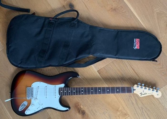 Fender Strat (Mexican) - purchased in NYC - 2