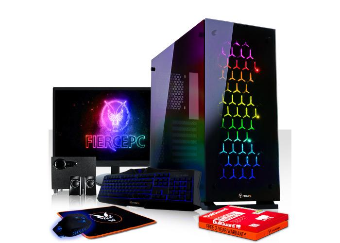 Buy Fierce GUARDIAN Gaming PC, Fast AMD Ryzen 7 2700X 4 3GHz