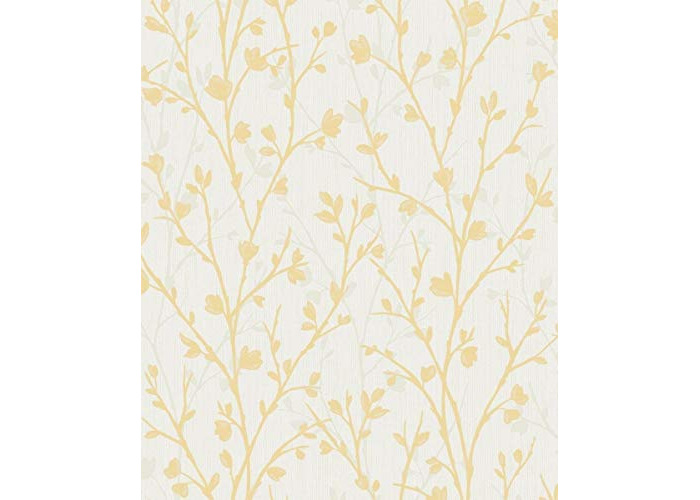 Fine Décor FD42158 Twiggy Sidewall Wallpaper, Yellow - 1