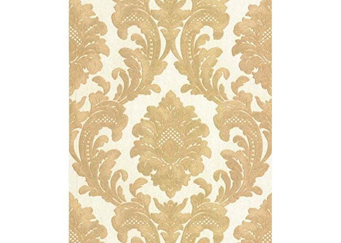Fine Decor Fine Decor Milano Wallpaper M95588 - Italian Vinyl Glitter Damask Cream Gold - 1
