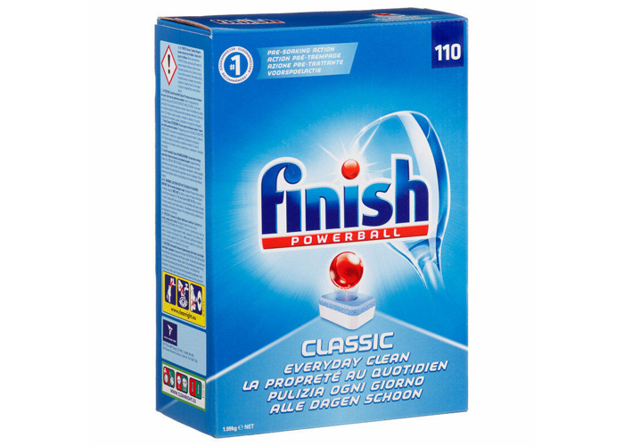 Finish Powerball Classic Dishwasher Tablets 110 Everyday Clean Pre Soak Action 3 - 1
