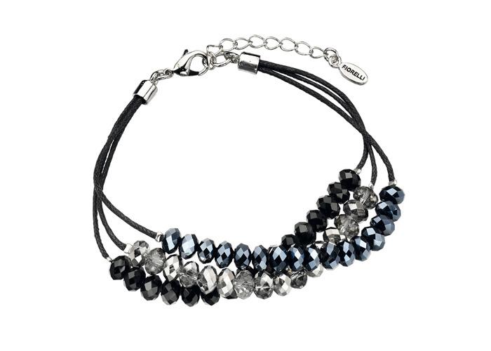 Fiorelli Multi Bead Triple Black Cord Bracelet - 1