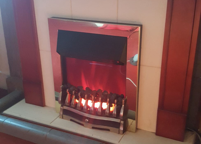 Fireplace  with inset electric working fire - 1