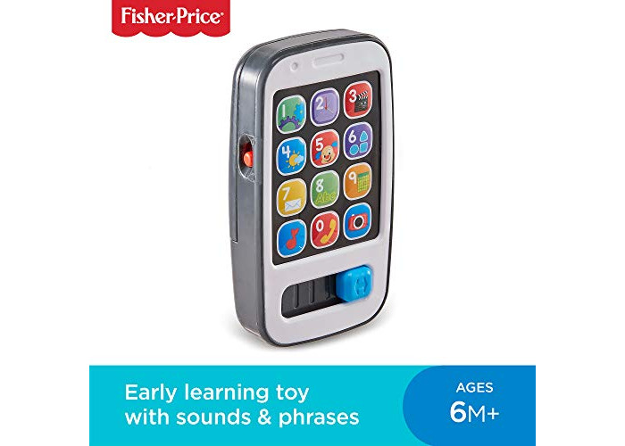 Fisher-Price 900 BHC01 Smart Phone Laugh and Learn Electronic Speaking Kids Role Play Toy Phone Suitable for 6 Months Plus - 1