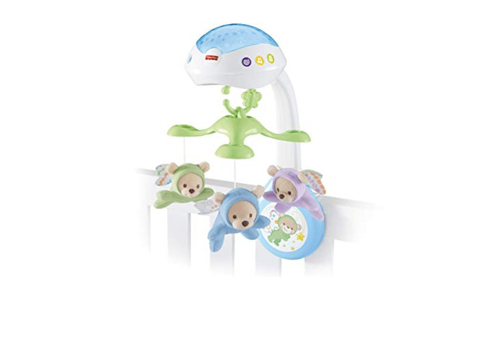 Fisher-Price CDN41 Butterfly Dreams 3-in-1 Projection Mobile, New-Born Baby Light Projector Cot Mobile, Suitable from Birth - 1