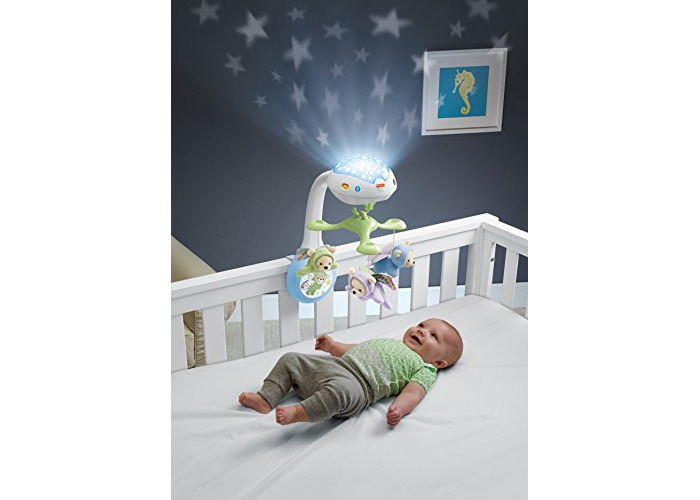 Fisher-Price CDN41 Butterfly Dreams 3-in-1 Projection Mobile, New-Born Baby Light Projector Cot Mobile, Suitable from Birth - 2