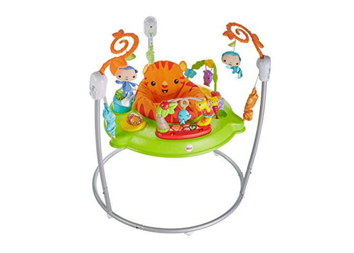 Fisher-Price CHM91 Roaring Rainforest Jumperoo, New-Born Baby Activity Centre with Music and Lights - 1