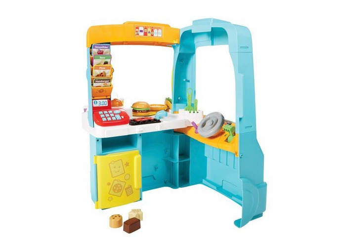 Fisher-Price Laugh & Learn Servin' Up Fun Food Truck With 14 Removable Play Pieces - 2