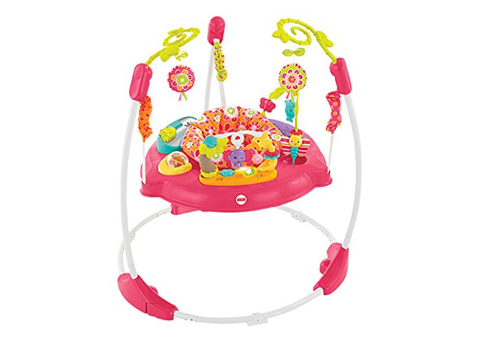 Fisher-Price Petals Jumperoo, New-born Baby Activity Centre with Music and Lights, Pink - 2