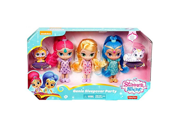 Fisher-Price Shimmer And Shine Genie Sleepover Party 3 Doll Giftset - 1