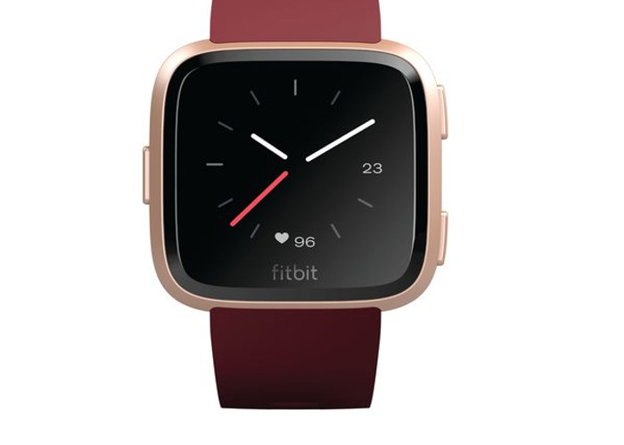 Fitbit Versa Unisex Fitness Smartwatch - Ruby & Rose Gold - 1