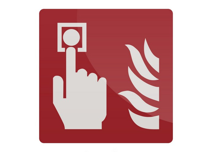 Fixman 417311 Fire Alarm Call Point Symbol Sign 150 x 150mm Rigid - 1