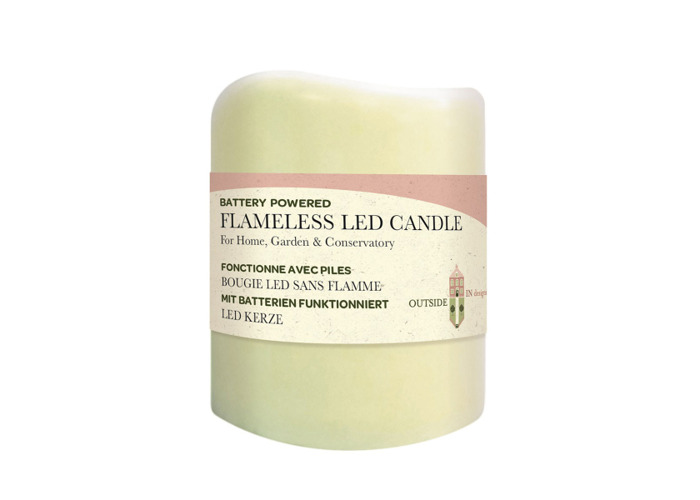 Flameless LED Candle Light 7.5 x 7.5cm - 1