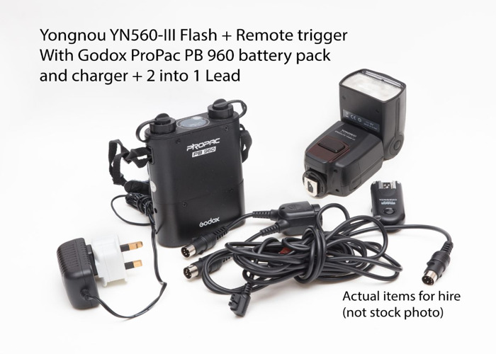 Flash Kit YN 560-III plus Godox Battery pack - 1