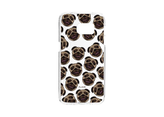FLAVR 26992Iplate MATT Pug Cover Case For Samsung Galaxy S7Edge Multicoloured - 2