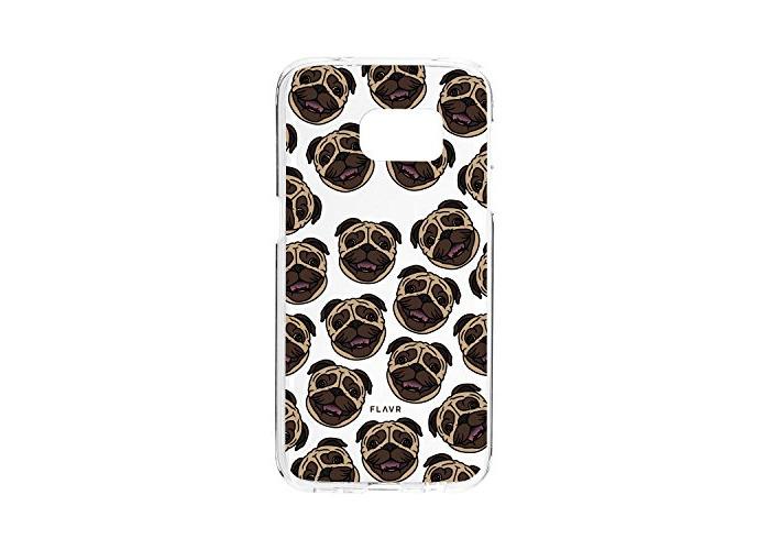 FLAVR 26992Iplate MATT Pug Cover Case For Samsung Galaxy S7Edge Multicoloured - 1