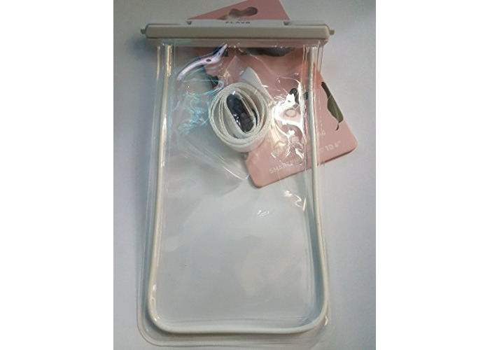 Flavr Universal Waterproof pouch for most devises upto 6in - Clear/White - 1