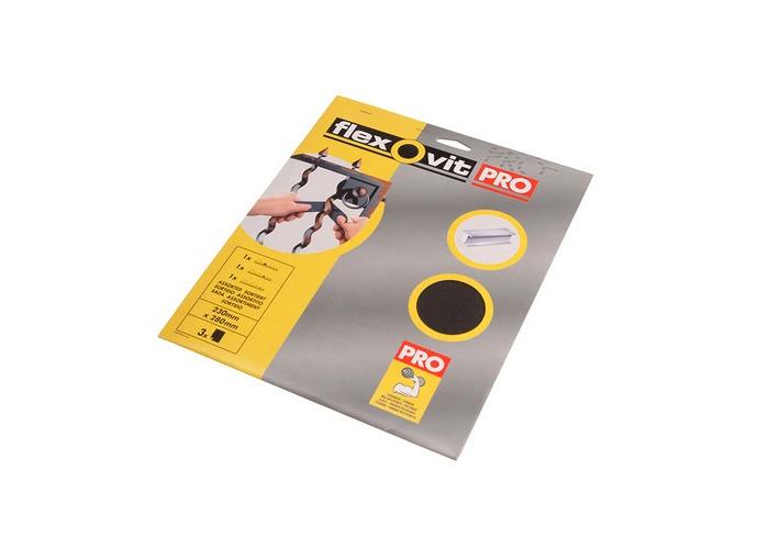 Flexovit 63642558252 Emery Cloth Sanding Sheets 230 x 280mm Fine 120g 25 - 1