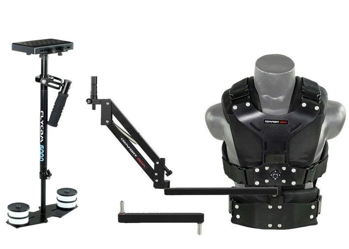 Flycam 5000 Video Camera Glidecam  Stabilizer with Comfort Arm & Vest - 1