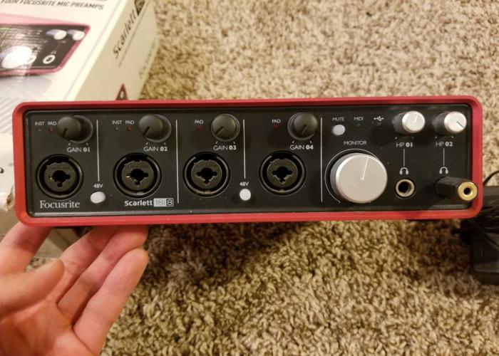 Focusrite Audio Interface 18i8 + USB Cable - 2