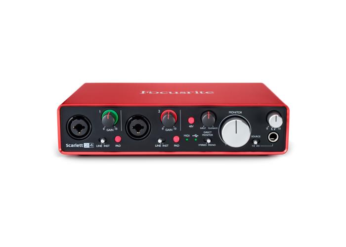 Focusrite Scarlett 2i4 Mk2 USB Audio Interface - 1