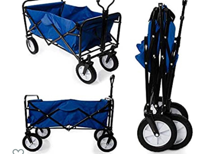 Foldable Garden Trolley Cart Wagon - 1