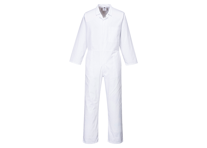 Food Boilersuit  White  Small  R - 1