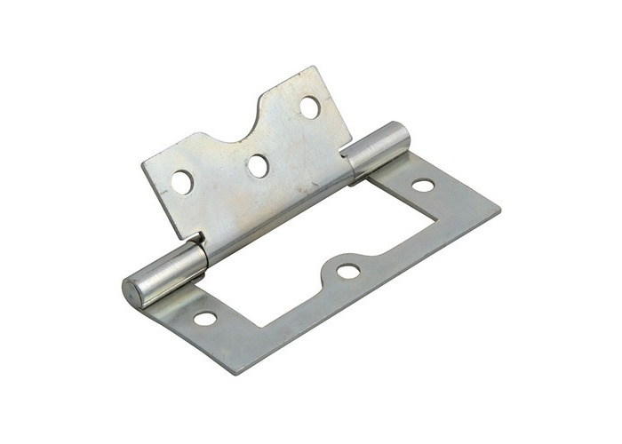 Forge FGEHNGFLZP75 Flush Hinge Zinc Plated 75mm 3in Pack of 2 - 1