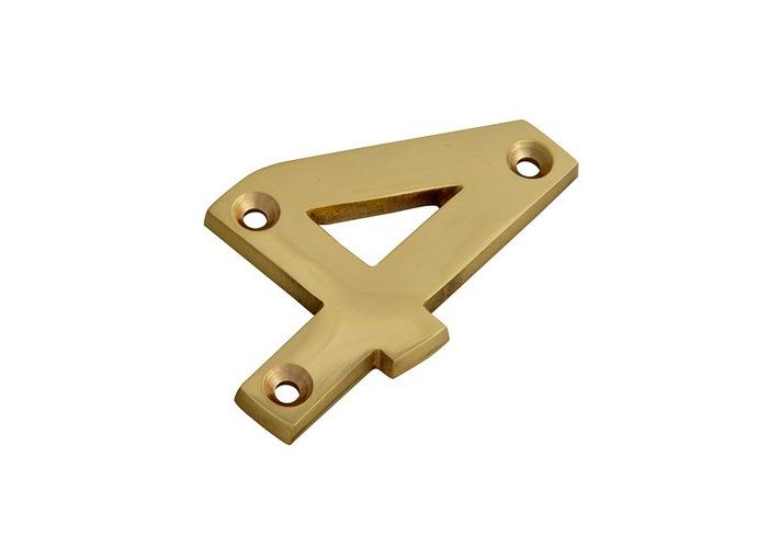 Forge FGENUM4BR75 Numeral No.4 - Brass Finish 75mm 3in - 1