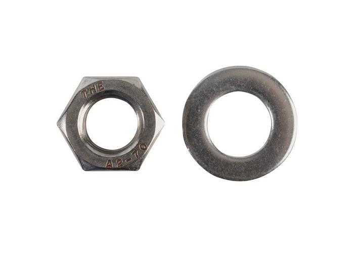 Forge FPNUT12SS Hexagonal Nuts & Washers A2 Stainless Steel M12 Forge Pack of 6 - 1